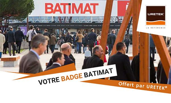 Invitation badge BATIMAT
